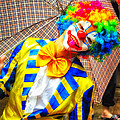 David Hill - Brightly dressed clown...