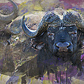 Ronel Broderick - Buffalo on the Move art...
