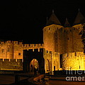 France  Art - Carcassonne at Night