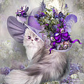 Carol Cavalaris - Cat In Easter Lilac Hat