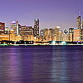 Frozen in Time Fine Art Photography - Chicago Evening Panorama