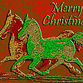 Michele  Avanti - Christmas Horses Red and...
