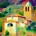Lyn Voytershark - Church in Riglos Spain -...
