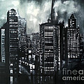 Maja Sokolowska - Cityscape oil on canvas