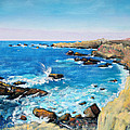 Asha Carolyn Young - Cliffs at Gerstle Cove...