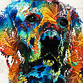 Sharon Cummings - Colorful Dog Art - Heart...