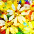 Debbie Portwood - Colorful Floral Abstract...