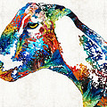 Sharon Cummings - Colorful Goat Art By...