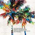 Sharon Cummings - Colorful Palm Trees -...