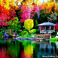 Bruce Nutting - Colorful Park at the Lake