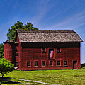 Pamela Phelps - Country Barn with Flag