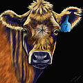 Michelle Wrighton - Cow Art - Lucky Number...