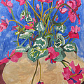 Esther Newman-Cohen - Cyclamen in Blue