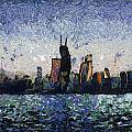 Thomas Woolworth - Dusk On Chicago Photo...