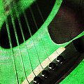 Andee Photography - Edgy Green Guitar