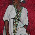 Esther Newman-Cohen - Ethiopian Woman in Red