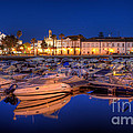 Nigel Hamer - Faro Marina at Night