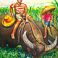 Joemarie  Chua - Feeding water buffalo