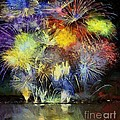 Dragica  Micki Fortuna - Fireworks over  Lake Bled