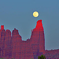 Steve Luther - Fisher Towers Moonrise