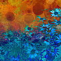 Ann Powell - Flower Fantasy in Blue...