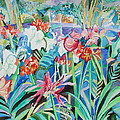 Esther Newman-Cohen - Flower Festival in Blue