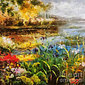 Elizabeth Coats - Flowers by the Pond