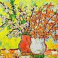Ana Maria Edulescu - Forsythia And Cherry...
