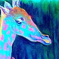 Sue Jacobi - Funky Blue Giraffe Smile