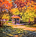 Thomas Woolworth - Gazebo On A Autumn Day