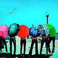 Mario  Perez - Girls umbrellas and sun