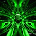 Mr Ds Abstract Adventures - Green Alien Abstract