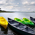 Carlos Caetano - Green and yellow kayaks