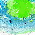 Sharon Cummings - Green Blue Art - Making...