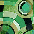 Karen Adams - Green Circle Abstract