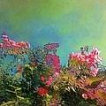 Lyn Voytershark - Green Sky with pink...