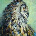 Tonja  Sell - Horned Owl Study 1