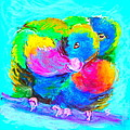 Sue Jacobi - In Love Birds - Lorikeets