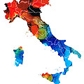 Sharon Cummings - Italy - Italian Map by...