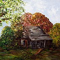 Eloise Schneider - Leaves on the Cabin Roof