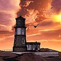 Todd and candice Dailey - Lighthouse At Sunset