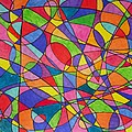 Jennifer Vazquez - Lines colorful abstract...