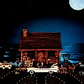 Leslie Crotty - Log Cabin Scene With The...