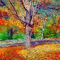 Lyn Voytershark - Maple Tree in Autumn -...