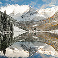 Gregory Ballos - Maroon Bells Covered In...