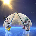 Bill Tiepelman - Mickey vs Yoda