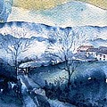 Trudi Doyle - Mist Rising over Snow in...