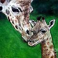 Jim Fitzpatrick - Mother and Baby Giraffe