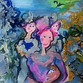 Judith Desrosiers - Mother and girls in the...