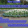 Bible Verse Pictures - New Leaders